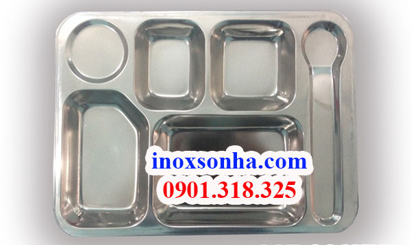 Khay inox 6 ngăn